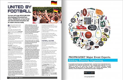 PROPROJEKT featured in the PanStadia & Arena Management magazine