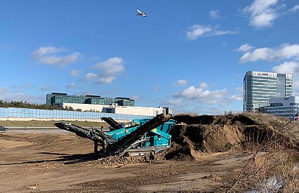 Heap of Earth makes Room for Construction Logistics Center